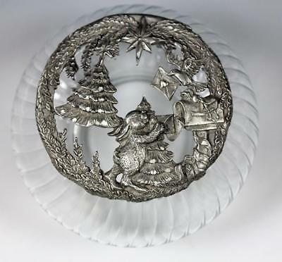 Rawcliffe Pewter Christmas Rabbit Sculpted Potpourri Lid with Glass Jar PC2973