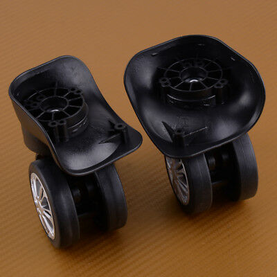 2x Replacement Luggage Suitcase Wheels 360 Spinner Swivel Luggage Case Repair