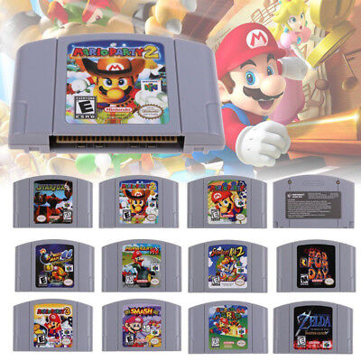 Mario Smash Bros Mario Party Game Cartridge for Nintendo 64 N64 Console AU Card