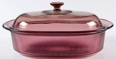 Corning VISIONS CRANBERRY 4 Quart Oval Roaster 8512726