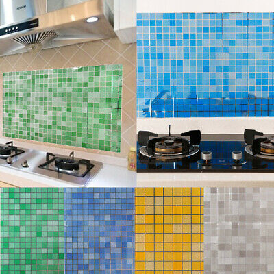 Kitchen Bathroom Tile Mosaic Sticker Self-adhesive Waterproof Home Wall Decor IB