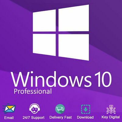 Windows 10 Pro Professional Key 32/64 Bit License (Activation) Product Code