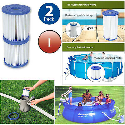 Bestway Size I Filter Cartridge for Swimming Pools Filter Pumps Tool Twin Pack