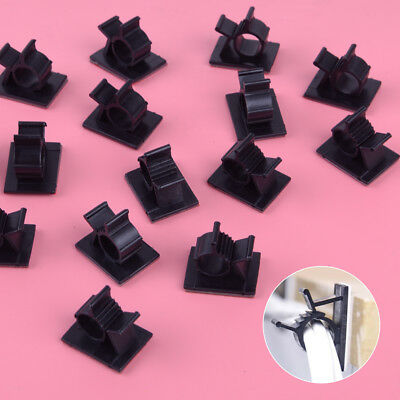 """50pcs Self Adhesive Adjustable 3/8"""" Wire Cable Ties Clamps Sticker Clips Mount"""