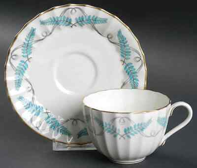 Royal Worcester FERNCROFT TURQUOISE Cup & Saucer 636494