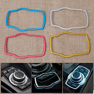 Car Interior Multimedia Buttons Cover Decor Trim For BMW 1 3 4 5 7 Series E81
