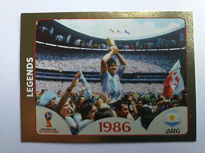 Panini Wc Coupe Du Monde Russie 2018 N°676 Legends 1986 Maradona Gold Shiny