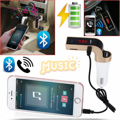 CARG7 doré BLUETOOTH Kit Voiture Transmetteur FM  MP3 Player SD USB Chargeur