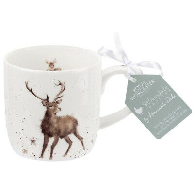 Royal Worcester Wrendale Wild At Heart Stag Fine Bone China Mug