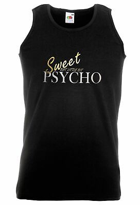Unisex Black Sweet But Little Bit Psycho Vest