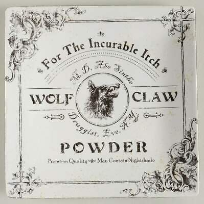 222 Fifth HALLOW APOTHOCARY Wolf Claw Square Salad Plate 10659511