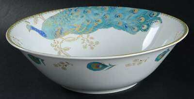 222 Fifth PEACOCK GARDEN Round Serving Bowl 9603813
