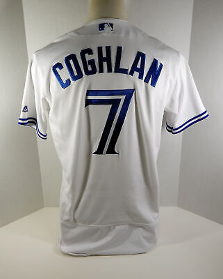 9d32179e6 2017 TORONTO BLUE Jays Chris Coghlan  7 Game Used White Jersey ...