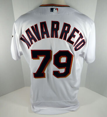 3a7d36435d9 2018 Minnesota Twins Brian Navarreto  79 Game Issued White Jersey
