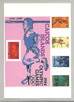 Caicos #37-41 Olympics 4v & 1v S/S Imperf Proofs Mounted in Folder