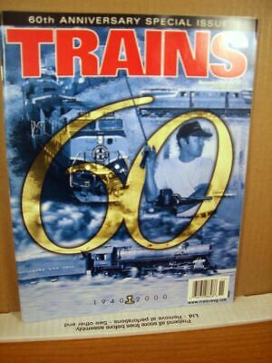 Trains Magazine November 2000 60th Anniversary Special Issue 1940-2000