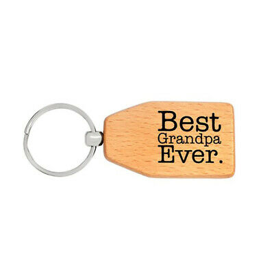 """""""Best Dad Grandpa"""" Letter Metal Keychain Key Tag for Father's Day Gift LD"""