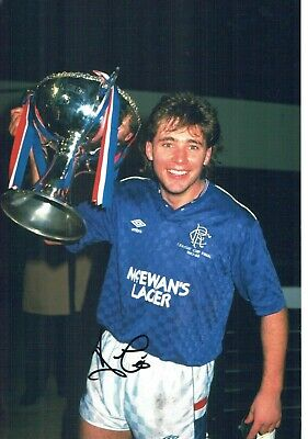 Ally McCOIST SIGNED Autograph 12x8 Photo 5 Glasgow Rangers Legend AFTAL COA