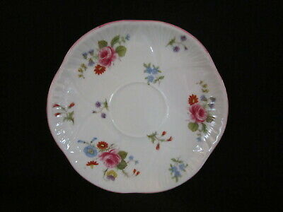 Shelley - Rose and Red Daisy - Saucer Only