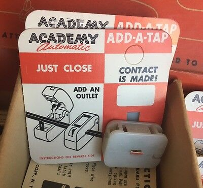 Vintage Lot 2 1956 Add A Tap Add an Outlet Academy White NEW OLD STOCK HTF