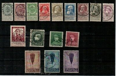 Belgium - nice small used collection of good stamps (Catalog Value $110.45)