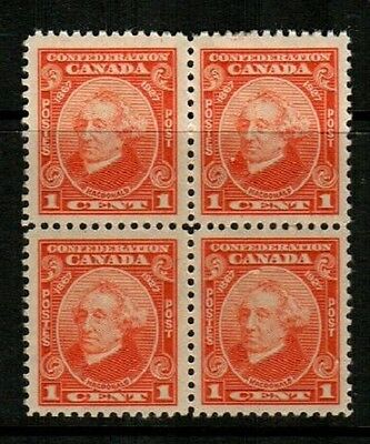 Canada Scott 141 Mint NH block (Catalog Value $26.00)