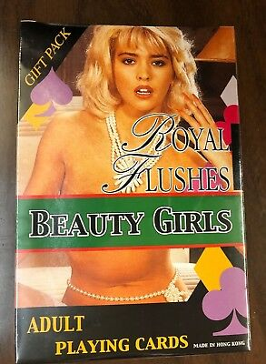 Large Royal Flushes Beauty Girls Adult Playing Cards - Gift Pack- Sealed!