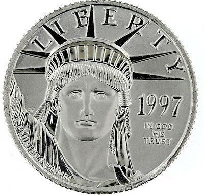 1997 1/4oz $25  BU Platinum Eagle Lady Liberty ** .9995 Pure ** UNCIRCULATED