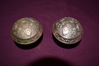 Antique Vintage East Lake  One Set Of Brass Door Knobs   #100