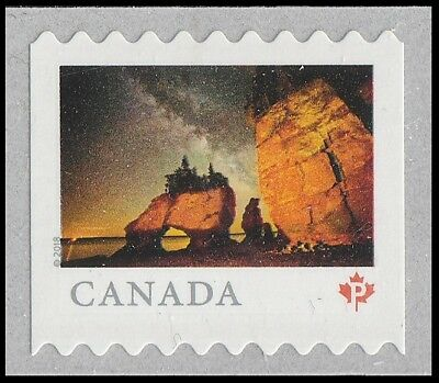 Canada 3058 Far & Wide Hopewell Rocks 'P' single (from coil of 5000) MNH 2018