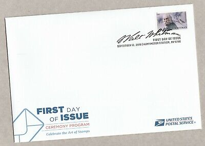 US 5414 Literary Arts Walt Whitman Ceremony Program FDC 2019 after Sep 15