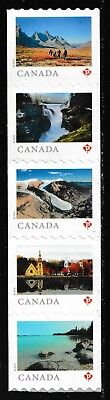 Canada 3148a Far & Wide 'P' coil strip set (5 stamps from coil of 100) MNH 2019
