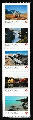 Canada Far & Wide 'P' coil strip set (5 stamps from coil of 100) MNH 2019