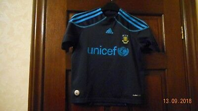 Boys Football Shirt - Brondby - Age 7/8 - Away 2009/10 - Black/blue - Adidas