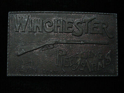 QK15141 VINTAGE 1970s **WINCHESTER REPEATING ARMS** GUN & FIREARM BELT BUCKLE