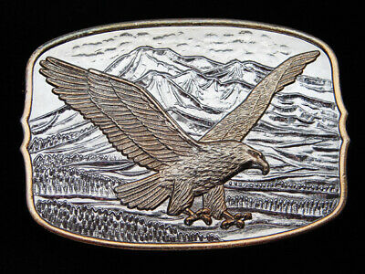 QD13173 *NOS* VINTAGE 1980s **AMERICAN BALD EAGLE** COMMEMORATIVE BELT BUCKLE