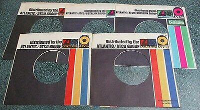 ATLANTIC/ATCO Group 45 Sleeves VG+to NM KING CRIMSON YES LED ZEPPELIN CLAPTON +