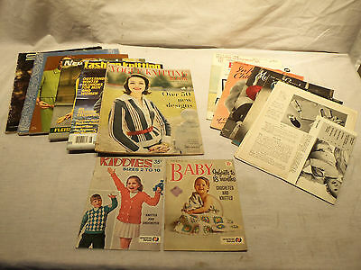 Lot Vintage Knitting Craft Books Magazines - Vogue Knitting  Babies  Infant Wear