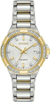 Citizen EW2464-55A Women's Eco-Drive Riva Two Tone 30 Diamond Accented Watch