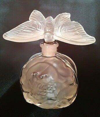 Spectacular Hoffman / Ingrid Glass Line 3D BUTTERFLY Perfume Bottle Circa 1930s