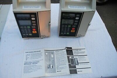 2 x Baxter Flo-guard 6201 Volumetric Infusion Pumps one working one spare/repair