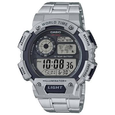Casio AE1400WHD-1AV, Chronograph Watch, World Time, Day/Date. 10 Year Battery