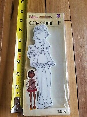 "Prima Mixed Media ""Keira"" Doll Cling Stamps Julie Nutting 910808"