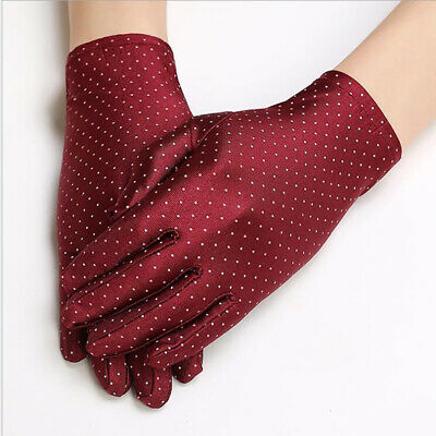 Women Sun Protection Gloves Driving Gloves Anti UV Etiquette Elastic Gloves LD