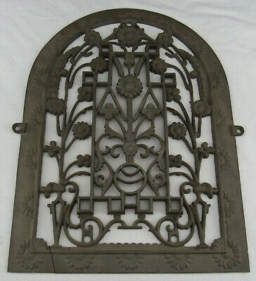 Antique Victorian Cast Iron Tuttle & Bailey, NY Daisy Floral Heat Grate Cover