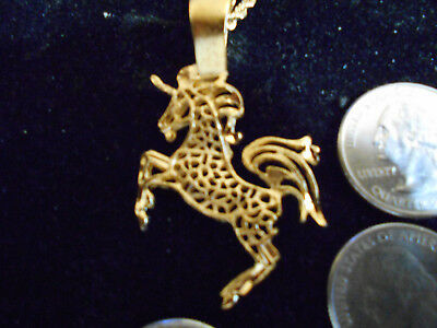 bling gold plated unicorn fashion myth stonehenge pendant charm necklace jewelry