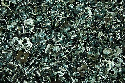 """1//4-20 x 7//16/"""" 3-Prong Tee Nuts Straight Barrel Zinc Plated T-Nut Cr+3 RoHS 50"""
