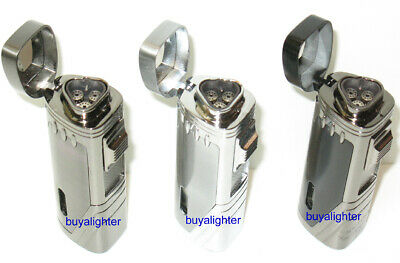 3 COLORS! Eternity E2 Triple Jet Torch Cigar Lighter With Punch Cutter ~NEW~