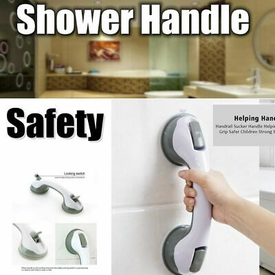 Bath Shower Grip Handle Anti-Slip Bathroom Suction Grab Bar Safety Cup Rail