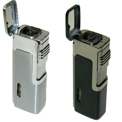 2 COLORS! Eternity E4 Quad Jet Torch Cigar Lighter With Punch Cutter new
